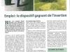 2013 02 LA BEGLAISE - Emplois le dispositif gagnant de l'insertion