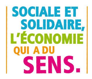 """Encart mettant en valeur l'E.S.S. """"l'économie sociale et solidaire qui a du sens"""""""