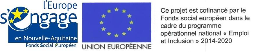 logo Fonds social européen-nouvelle aquitaine