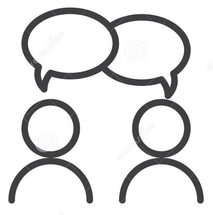 pictogramme de 2 personnes qui parlent
